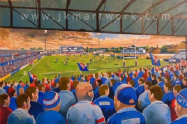 Hand Painted original of belle vue  wakefield